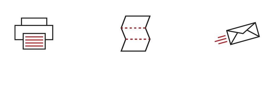 Print, Fold & Seal, Mail